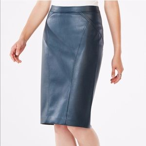 BCBGMaxAzria Natilie Faux-Leather Skirt